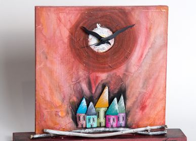 Clocks - Woodclock | Square clock - PITEROS DIMITRIS