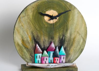 Clocks - Woodclock | Round clock - PITEROS DIMITRIS