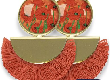 Jewelry - Earrings Pigalle fully gilded with fine gold Les Parisiennes d'Emilie FIALA Poppy - LES PARISIENNES D'EMILIE FIALA