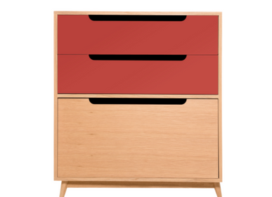 Furniture and storage - CHEST OF DRAWERS MOCHA RED - KULILE