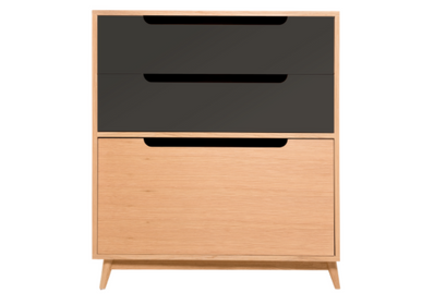 Children's bedrooms - CHEST OF DRAWERS MOCHA BLACK - KULILE