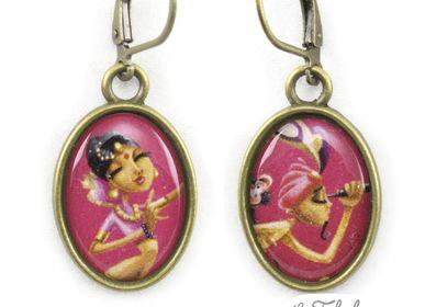 Bijoux - Boucles d'oreilles laiton Les Fabuleuses d'Emilie FIALA Sur la Route des Indes - LES FABULEUSES D'EMILIE FIALA