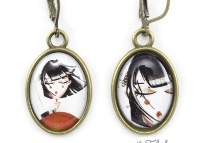 Kids accessories - Earrings brass Les Fabuleuses d'Emilie FIALA Art for Japan - LES FABULEUSES D'EMILIE FIALA