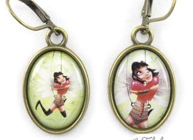 Accessoires enfants - Boucles d'oreilles laiton Les Fabuleuses d'Emilie FIALA Battement de Cœurs - LES FABULEUSES D'EMILIE FIALA