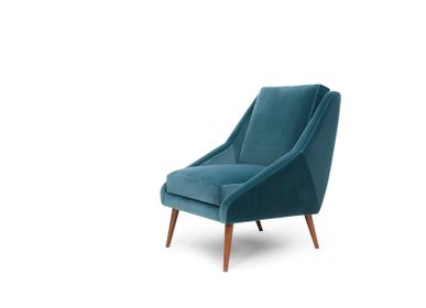 Armchairs - Blue Velvet Obama Armchair - MYTTO