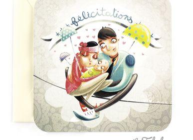 Papeterie bureau - Carte postale carrée Les Fabuleuses d'Emilie FIALA Félicitations - LES FABULEUSES D'EMILIE FIALA