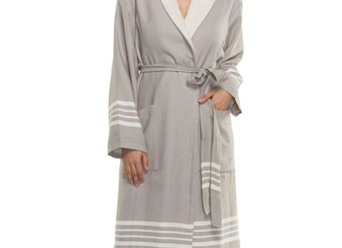 Bath towels - BATHROBE SULTAN UNISEX TERRY LINING COTTON - LALAY