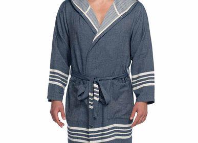 Bath towel - BATHROBE HOODED SULTAN UNISEX COTTON - LALAY