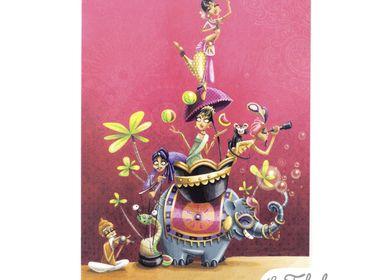 Stationery store - Rectangular postcard Les Fabuleuses d'Emilie FIALA Sur la Route des Indes - LES FABULEUSES D'EMILIE FIALA