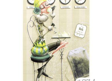 Stationery store - Rectangular postcard Les Fabuleuses d'Emilie FIALA Tea Time - LES FABULEUSES D'EMILIE FIALA