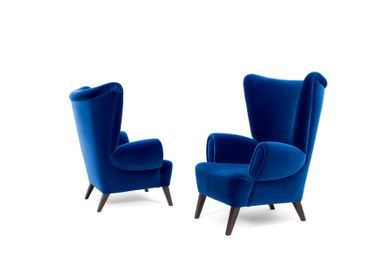 Armchairs - Blue Velvet Tommy Armchair - MYTTO