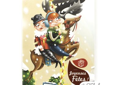 Stationery store - Wish card Les Fabuleuses d'Emilie FIALA Joyeux Noël - LES FABULEUSES D'EMILIE FIALA