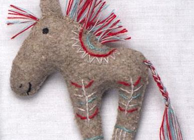 Decorative objects - Indian horse ornament - SILAIWALI
