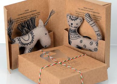 Decorative objects - Felt Ornaments , Horse/Snow Leopard - SILAIWALI