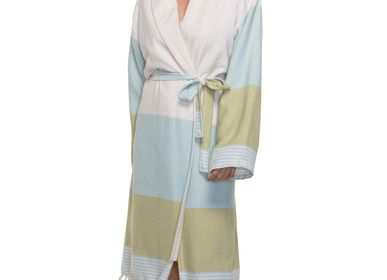 Bath towels - BATHROBE TERRY LINED COTTON  - LALAY