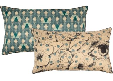 Fabric cushions - Japanese cushions - LE MONDE SAUVAGE BEATRICE LAVAL