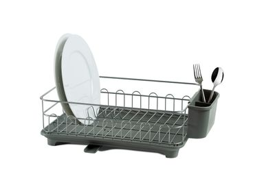 Dish Drainer - Grey metal and plastic dishdrainer CC70176 - ANDREA HOUSE