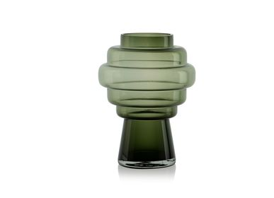 Vases - Totem green glass vase CR70145 - ANDREA HOUSE