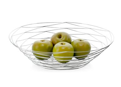 Kitchen utensils - Chrome metal fruit basket MS70028 - ANDREA HOUSE