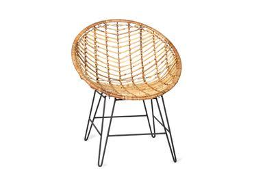 Armchairs - Kira rattan armchair MU70231 - ANDREA HOUSE