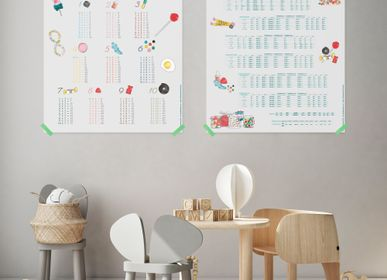 Decorative items - KIT OF 2 POSTERS / CANDY fOR GOOD GRADES - LES JOLIES PLANCHES