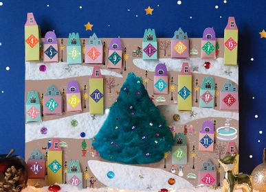 Décorations de Noël -  Kit de loisirs créatifs et éducatif «Calendrier de Noël» - Jouets DIY enfant - L'ATELIER IMAGINAIRE
