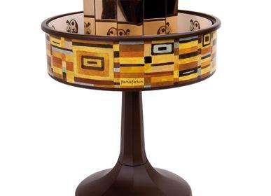 """Objets personnalisables - Praxinoscope Miniature """"Vienne"""" Carrés. Base marron - HEMISFERIUM"""