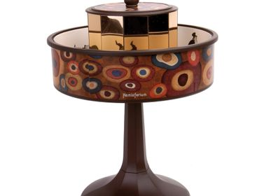 "Objets de décoration - Praxinoscope Miniature ""Vienne"" Brun. Base marron - HEMISFERIUM"