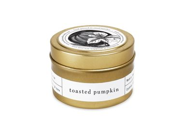 Installation accessories - Toasted Pumpkin gold Travel Candle - BROOKLYN CANDLE STUDIO