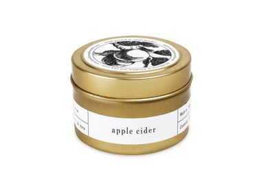 Installation accessories - Apple Cider Gold Travel Candle - BROOKLYN CANDLE STUDIO