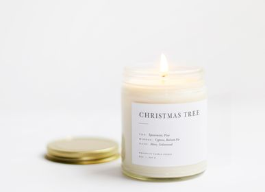 Office supplies - Christmas Tree Minimalist Candle - BROOKLYN CANDLE STUDIO