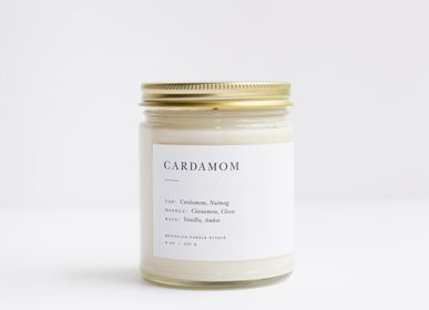 Office supplies - Cardamom Minimalist Candle - BROOKLYN CANDLE STUDIO