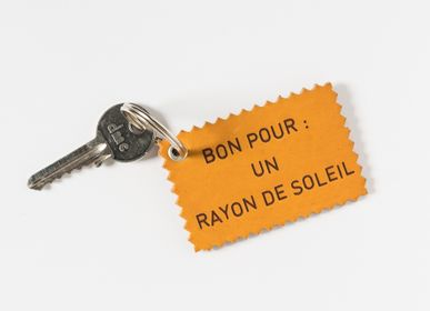 Office supplies - BON POUR - Funny leather key ring - PA DESIGN