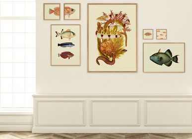 Poster - Poster Fish&Weed, Yellow Tones. - THE DYBDAHL CO.