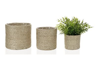 Storage - Set of 3 natural jute planters AX18069 - ANDREA HOUSE