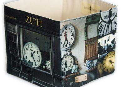 """Homeweartextile - Boite de rangement """"Zut !"""" Antiquités industrielles - MARON BOUILLIE"""