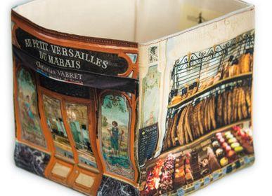 "Homewear - Storage box Bakery ""Au petit Versailles du marais"" - MARON BOUILLIE"