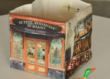 """Homeweartextile - Boite de rangement Boulangerie """"Au petit Versailles du marais"""" - MARON BOUILLIE"""