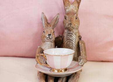 Paréos pour enfants - Petite Stripe Tasse à thé et soucoupe à fard à joues - Lot de 2 - CRISTINA RE