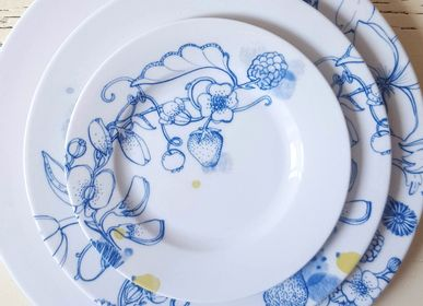 Ceramic - Blue Summer _ Plates - FRANCESCA COLOMBO