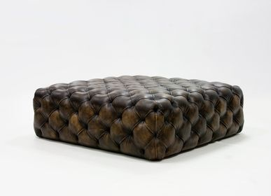 Ottomans - Pouff Capiton Contemporain | Pouf - CREARTE COLLECTIONS