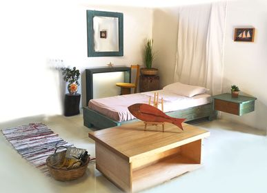 Design objects - Solid wooden Bed Calypso  - LIVING MEDITERANEO