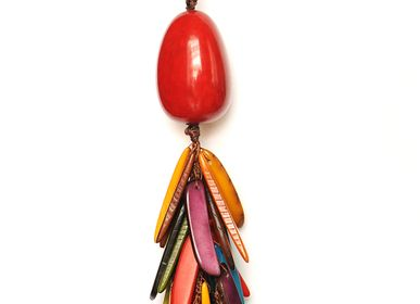 Bijoux - Porte-clés flamme - TAGUA AND CO