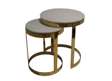 Tables for hotels - end table Pluie d'or set of 2  - VAN ROON LIVING