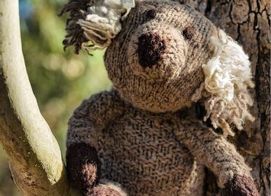Decorative items - Koala - durable plush, hand-knitted and fair trade. Hand spun wool - KENANA KNITTERS