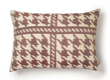 Cushions - Houndstooth Sequoia - AADYAM HANDWOVEN