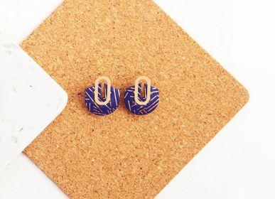 Bijoux - boucles d'oreilles - clous WILLIE - PEAU DE FLEUR