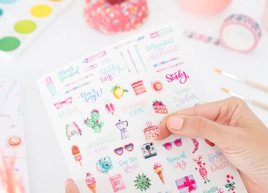 Stationery - Sheet of Adhesive Transparent Stickers - VERY WONDER