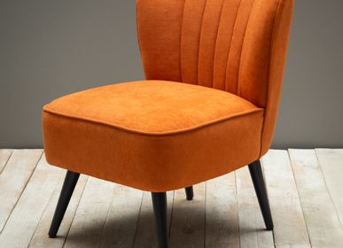 Armchairs - Orange armchair Hopper - CHEHOMA