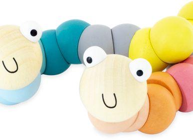 Toys - WOODEN WIGGY WORMS: PASTEL COLORS - ULYSSE COULEURS D'ENFANCE